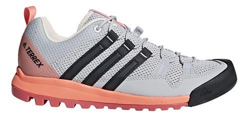 Womens adidas Terrex Solo Hiking Shoe - Grey/Coral 10.5