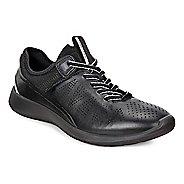 Womens Ecco Soft 5 Sneaker Casual Shoe - Black/Black-Concrete 35