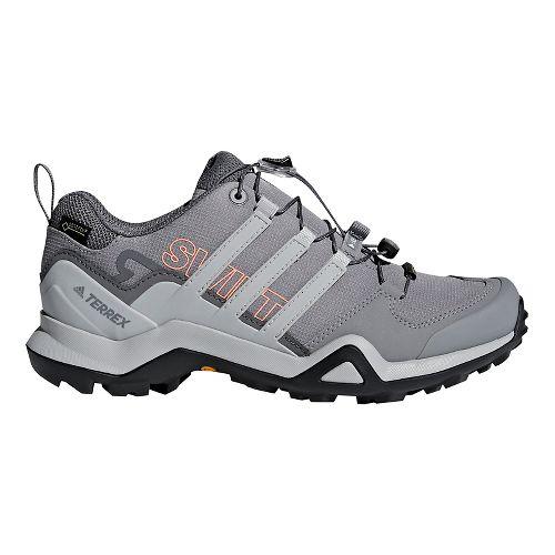 Womens adidas Terrex Swift R2 GTX Hiking Shoe - Grey/Coral 5.5