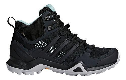 Womens adidas Terrex Swift R2 Mid GTX Hiking Shoe - Black/Green 5