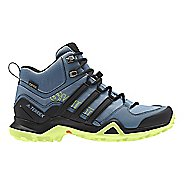 Womens adidas Terrex Swift R2 Mid GTX Hiking Shoe - Grey/Black/Yellow 8.5