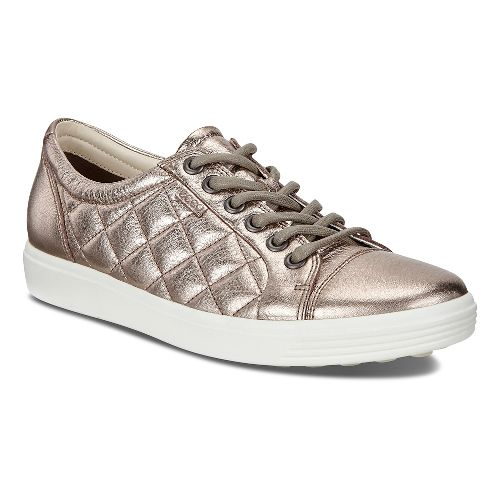 Womens Ecco Soft 7 Quilted Casual Shoe - Warm Grey 42