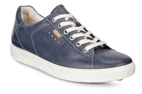 Womens Ecco Soft 7 Long Lace Casual Shoe - Marine 42