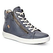 Womens Ecco Soft 7 Zip High Top Casual Shoe