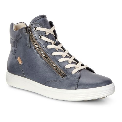 Womens Ecco Soft 7 Zip High Top Casual Shoe - Ombre Grey 36