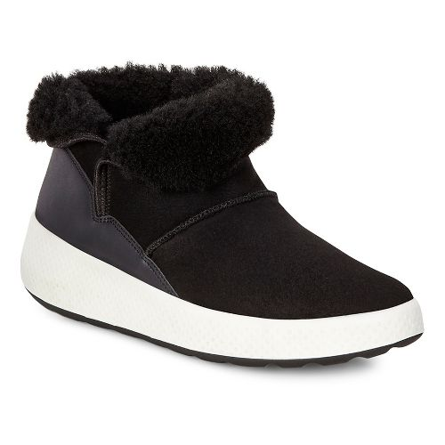 Womens Ecco Ukiuk Low Casual Shoe - Black/Black 40