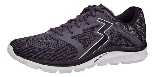 Mens 361 Degrees Spinject Running Shoe - Ebony/Black 9.5
