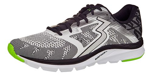 Mens 361 Degrees Spinject Running Shoe - White/Black 10.5