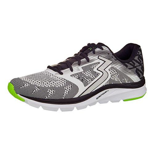 Mens 361 Degrees Spinject Running Shoe - White/Black 7.5