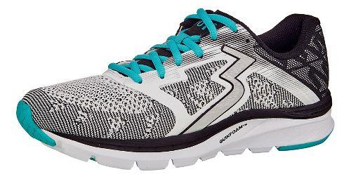 Womens 361 Degrees Spinject Running Shoe - White/Black 9.5