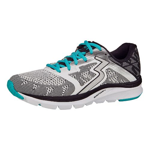 Womens 361 Degrees Spinject Running Shoe - White/Black 9