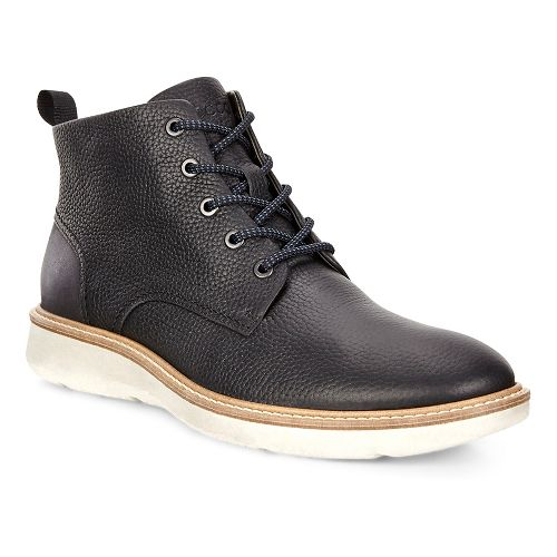 Mens Ecco Aurora Mid Boot Casual Shoe - Black/Black 41