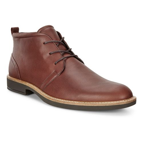 Mens Ecco Biarritz Modern Boot Casual Shoe - Rust 40