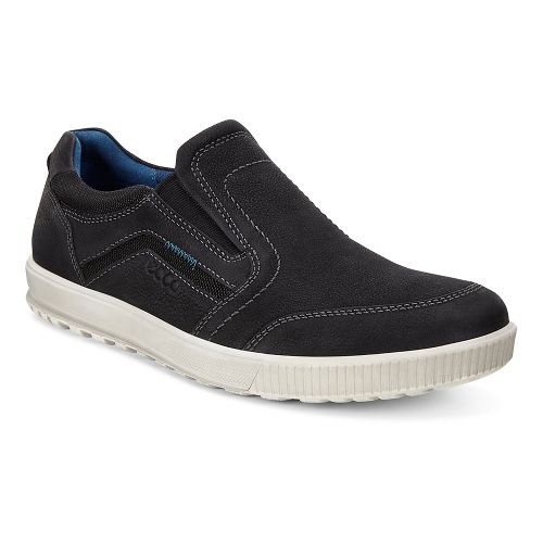 Mens Ecco Ennio Modern Slip On Casual Shoe - Black/Black 39