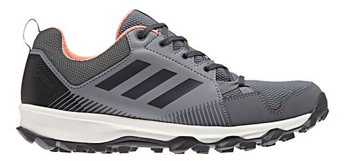 Womens adidas Terrex Tracerocker GTX Trail Running Shoe - Grey/Coral 9.5