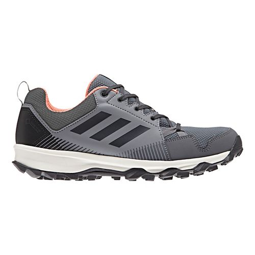 Womens adidas Terrex Tracerocker GTX Trail Running Shoe - Grey/Coral 8.5