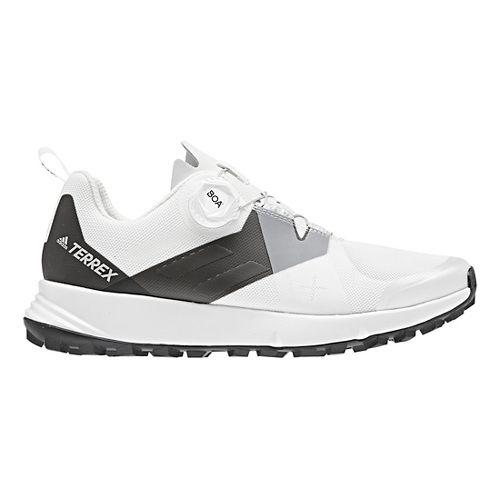 Womens adidas Terrex Two BOA Trail Running Shoe - White/Black 7.5