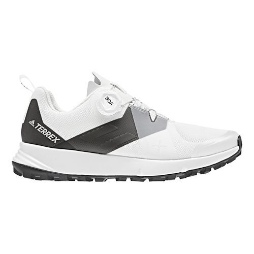 Womens adidas Terrex Two BOA Trail Running Shoe - White/Black 9.5