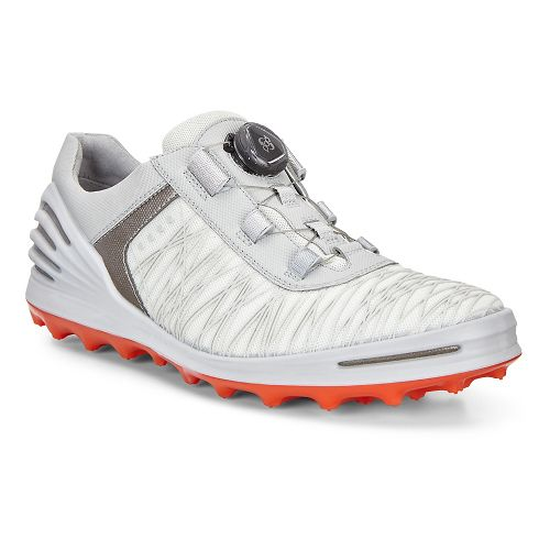 Mens Ecco Golf Cage Pro Textile Cleated Shoe - Shadow White 43