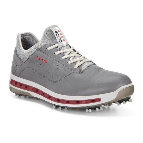 Mens Ecco Golf Cool 18 GTX Cleated Shoe - Dark Shadow/Black 45