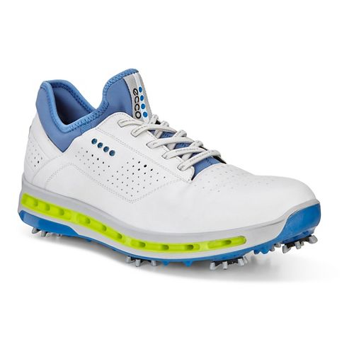 Mens Ecco Golf Cool 18 GTX Cleated Shoe - White/Dynasty Blue 47