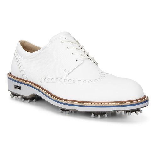 Mens Ecco Golf Lux Cleated Shoe - Bison/Stone 41