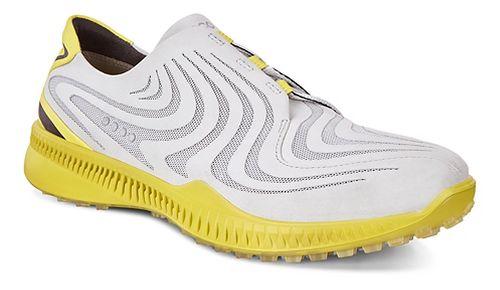 Mens Ecco Golf S-Drive Cleated Shoe - Concrete/Kiwi 41