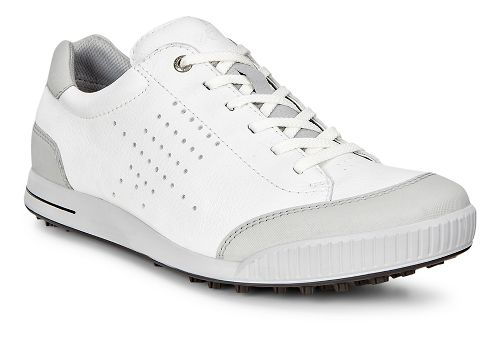 Mens Ecco Golf Street Retro HM Cleated Shoe - White/Concrete 47