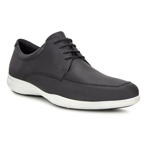 Mens Ecco Grenoble Modern Tie Casual Shoe - Black 42