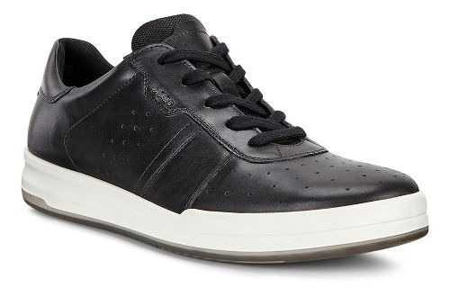 Mens Ecco Jack Retro Sneaker Casual Shoe - Black 45
