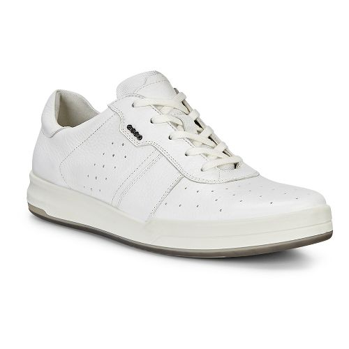 Mens Ecco Jack Retro Sneaker Casual Shoe - Bright White 44