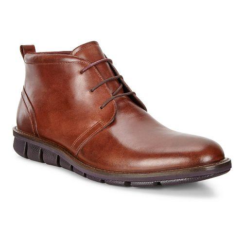 Mens Ecco Jeremy Hybrid Boot Casual Shoe - Cognac 46