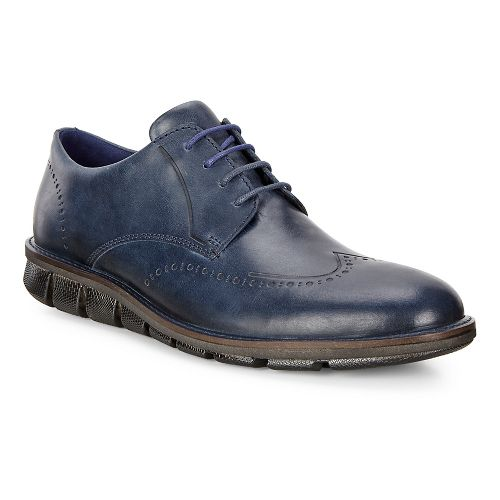 Mens Ecco Jeremy Tie Casual Shoe - Denim Blue 44