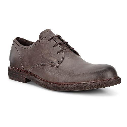 Mens Ecco Kenton Plain Toe Casual Shoe - Dark Clay 45