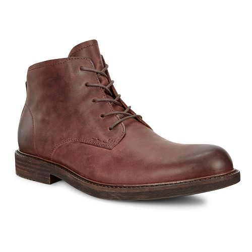 Mens Ecco Kenton Plain Toe Boot Casual Shoe - Mink 45