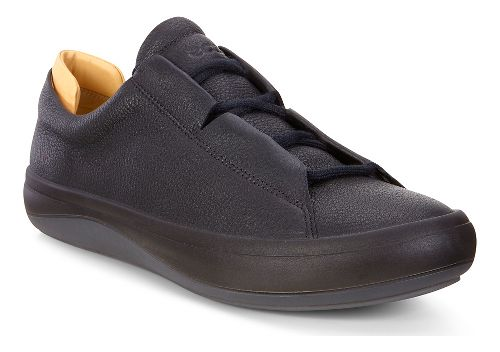 Mens Ecco Kinhin Low Casual Shoe - Black/Veg Tan 46