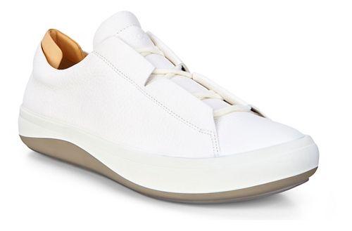 Mens Ecco Kinhin Low Casual Shoe - White/Veg Tan 43