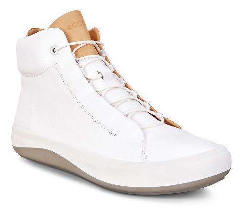 Mens Ecco Kinhin Mid Casual Shoe - White/ Veg Tan 44