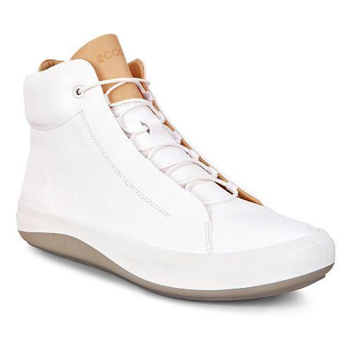 Mens Ecco Kinhin Mid Casual Shoe - White/ Veg Tan 44