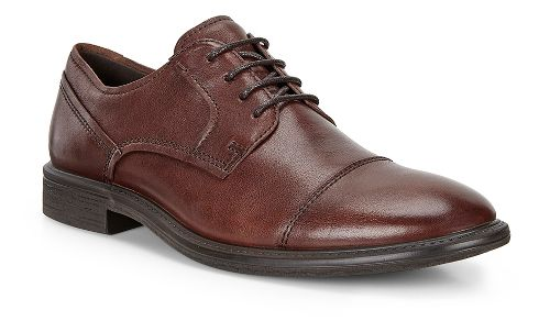 Mens Ecco Knoxville Cap Toe Tie Casual Shoe - Whisky 40