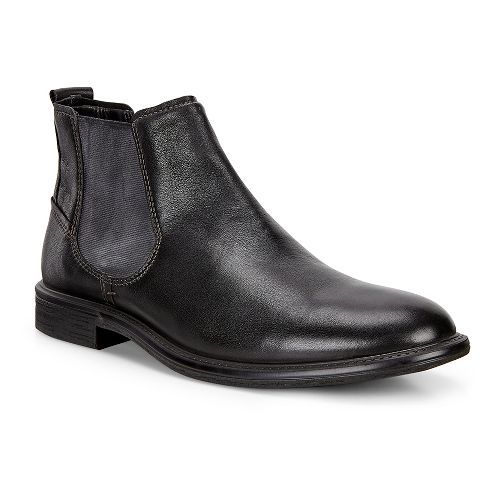 Mens Ecco Knoxville Chelsea Boot Casual Shoe - Black 40