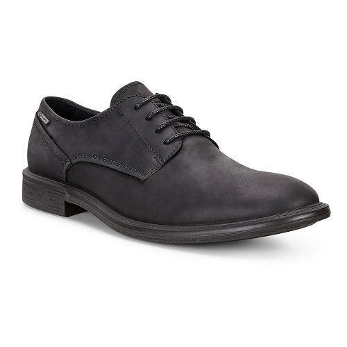 Mens Ecco Knoxville Plain Toe GTX Casual Shoe - Black 41