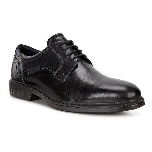 Mens Ecco Lisbon Plain Toe Tie Casual Shoe - Black 47