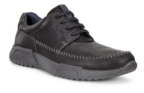 Mens Ecco Luca Moc Toe Tie Casual Shoe - Black/Black/Marine 43