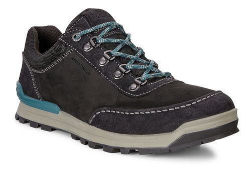 Mens Ecco Oregon Retro Sneaker Casual Shoe - Black/Black 39