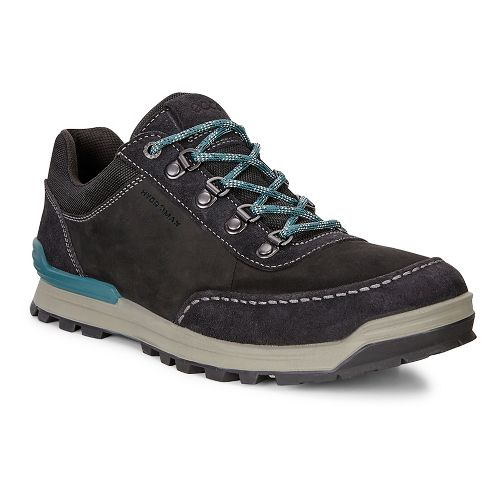 Mens Ecco Oregon Retro Sneaker Casual Shoe - Black/Black 39