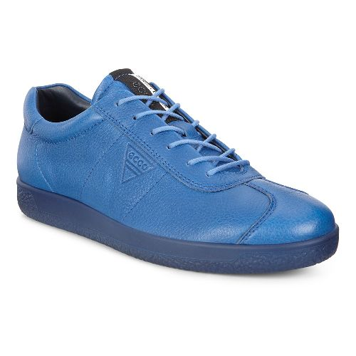 Mens Ecco Soft 1 Tie Casual Shoe - Cobalt 45