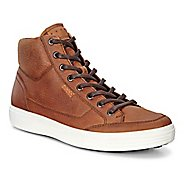 Mens Ecco Soft 7 High Top Tie Casual Shoe - Amber 40