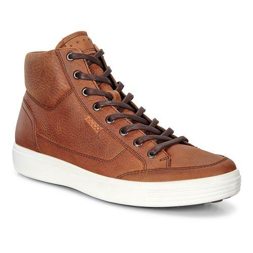 Mens Ecco Soft 7 High Top Tie Casual Shoe - Amber 50