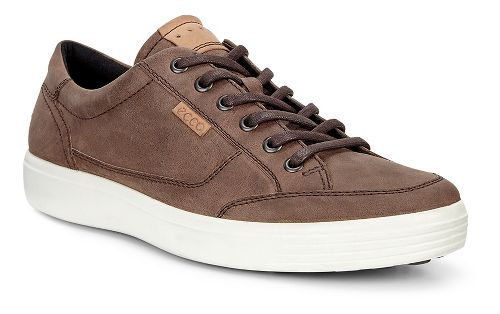Mens Ecco Soft 7 Long Lace Casual Shoe - Cocoa Brown 39